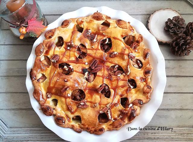 Apple pie au caramel et noix de pécan - Dans la cuisine d'Hilary