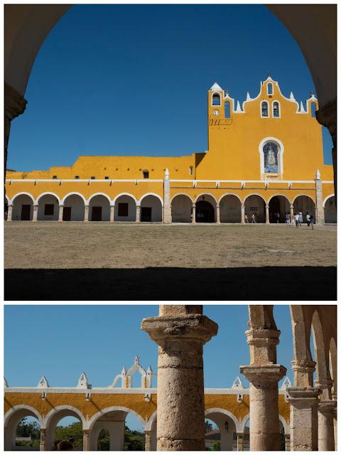 Vista del Convento de San Bernardino (Izamal) desde el atrio