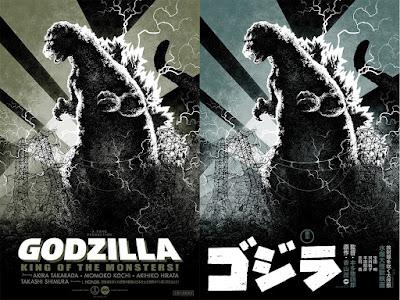Godzilla Screen Prints by Attack Peter, Robert Sammelin, Eric Powell & Mondo