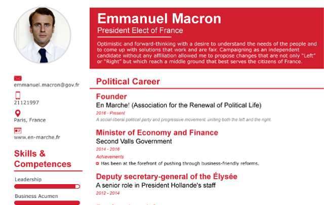 france youngest president  want to know more about emmanuel macron  check out his impressive cv