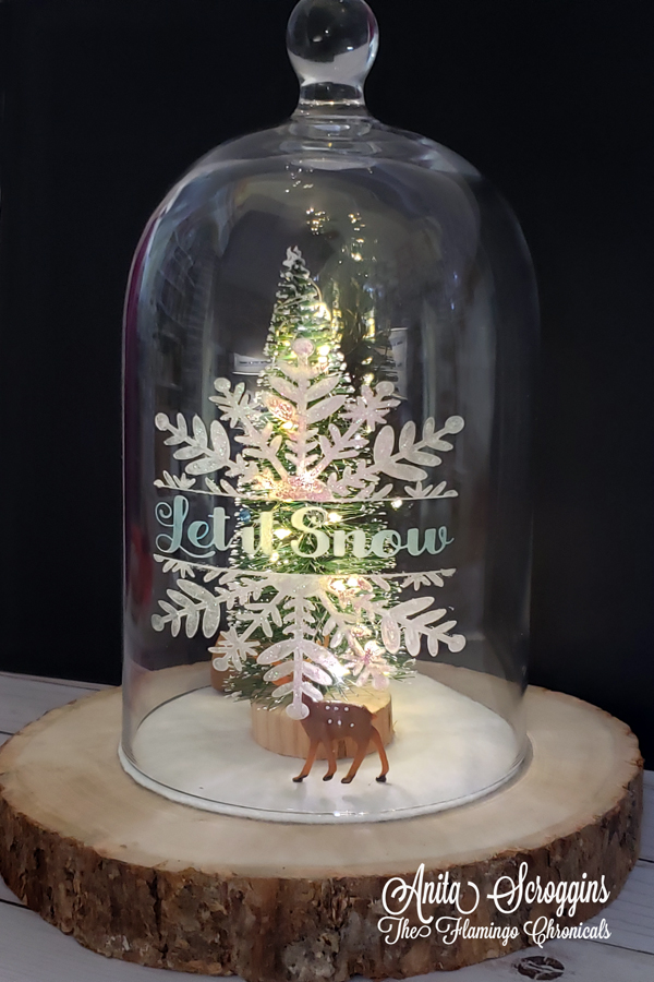 Etched Glass Snow Globe
