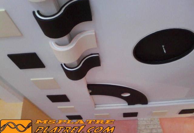 Une moderne décor pour le plafond de salon français.