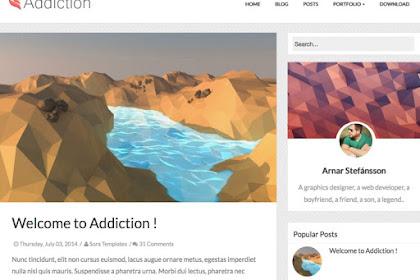 Addiction Professional Blogger Templates Free