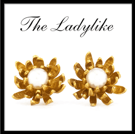 Chrysanthemum Pearl Stud Earrings Alex Monroe Jewellery Curated