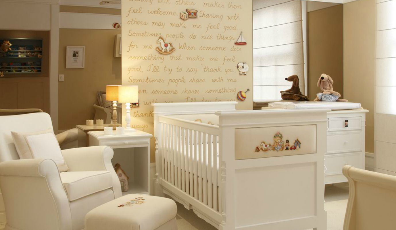 Cuartos de beb s en colores neutros dormitorios colores - Decoracion pared dormitorio ...