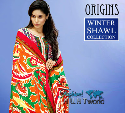 Origins Winter Shawl Collection 2015-2016 | Ready To Wear Shawl Dresses - Fashion Hunt World | Fashion & Lifestyle Blog