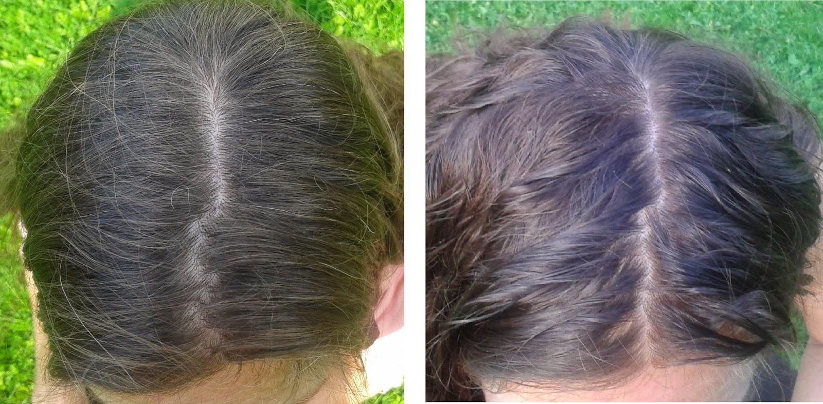 håret kliar efter färgning