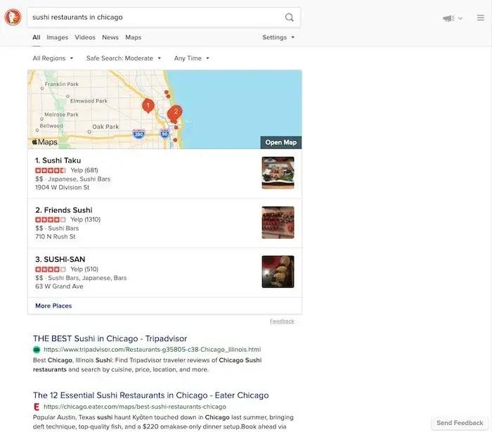 مقارنة بين محركات البحث : DuckDuckGo