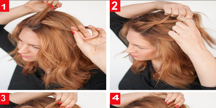 The Twist Back Hairstyle Tutorial For Long Hair Calgary