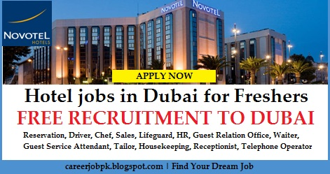 Hotel jobs in Dubai for Freshers