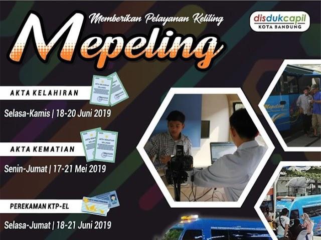 Jadwal Mepeling Disdukcapil Kota Bandung 17 - 21 Juni 2019
