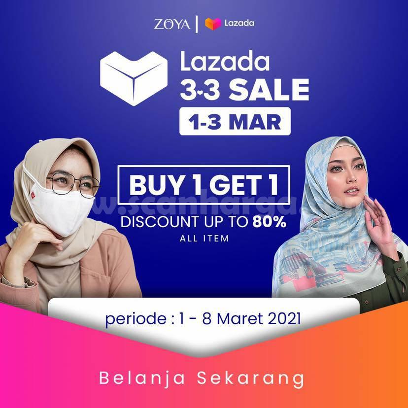 ZOYA Promo Lazada 3.3 Sale! B1G1 Dapatkan DISKON hingga 80%