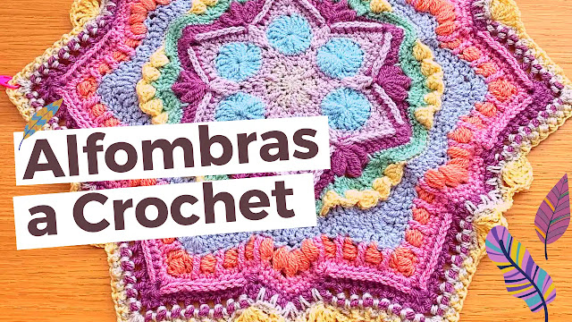 Alfombras a Crochet - Galería y Enlaces a Tutoriales