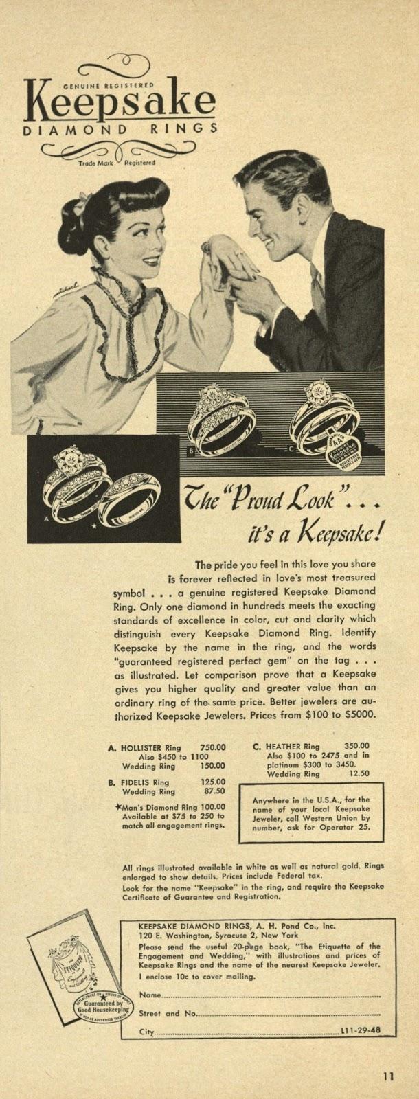 engagement ring advertisement for keepsake wedding rings Wedding Ring 12 50