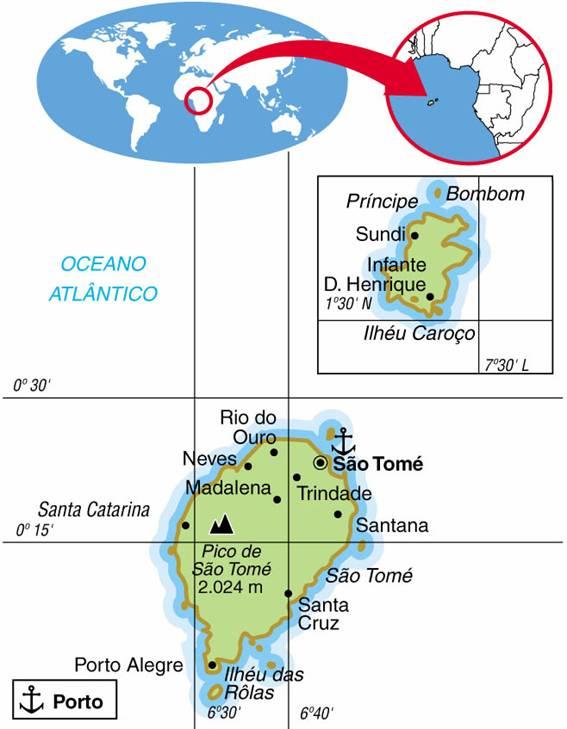SÃO TOMÉ E PRÍNCIPE - ASPECTOS GEOGRÁFICOS E SOCIAIS DE SÃO TOMÉ E PRÍNCIPE