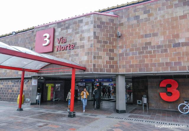 Estação Rodoviária de Bogotá, setor 3, de onde partem os ônibus para Villa de Leyva