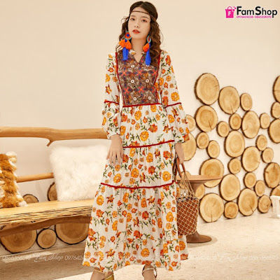 Shop bán váy maxi đi biển tại Hàng Bài