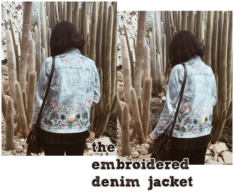 recap, monatsrückblick, april, bestickte zara jeansjacke, embroiderd zara demin jacket
