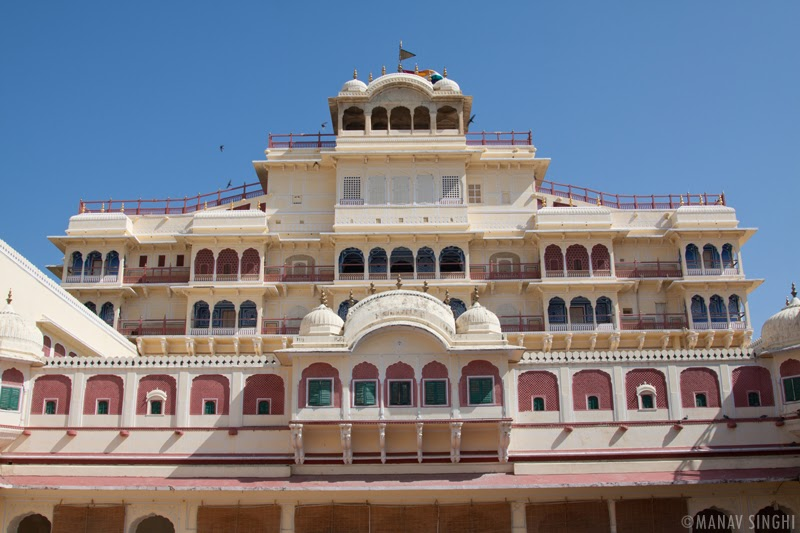 Chandra Mahal Clicked From Pitam Niwas Chowk at The City Palace, Jaipur.