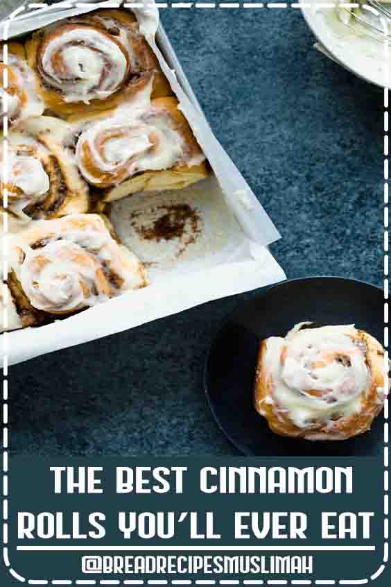 The BEST cinnamon rolls in the WORLD. Big, fluffy, soft and absolutely delicious. You'll never go back to any other recipe once you try this one!  #best #Yeast #Bread #Recipes