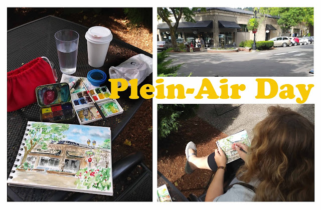 Plein Air Day at Downtown Camas State Of Washington