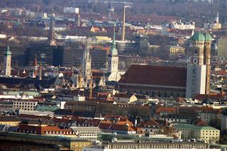 Centro de Múnich desde la Olympiaturm.