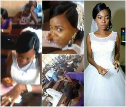 """Why I left my wedding to write my exams"" — Bride who wrote exam in her wedding gown"