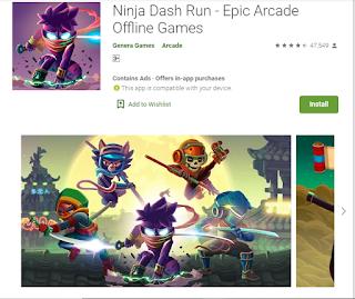Ninja dash run- best played games of 2019