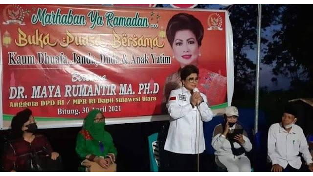 Maya Rumantir Buka Puasa Bersama dengan Umat Muslim Bitung