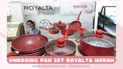 Review Royalta Pan Set Warna Merah isi 7A