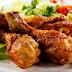 شرائح الدجاج المقلي في الزبدة مع البطاطا المقلية