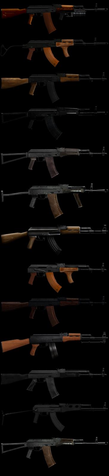 baixar pack de armas ak47 em alta definição