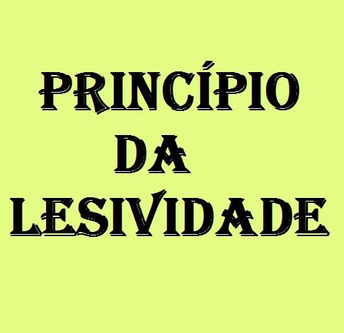 Principio da lesividade