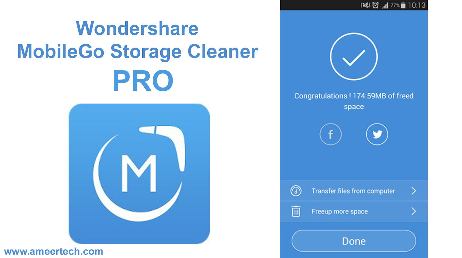 Wondershare MobileGo Storage Cleaner PRO APK Download (2019)