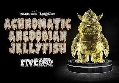 Five Points Festival 2019 Exclusive Stroll Achromatic Arcoobian Jellyfish Edition Vinyl Figure by Spanky Stokes x Toy Art Gallery