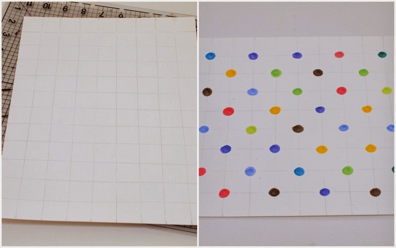 Steps to Make polka dot pi artwork