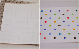 Steps to Make polka dot pi artwork