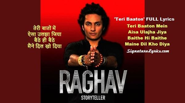 Raghav - Teri Baaton Lyrics in English and Hindi