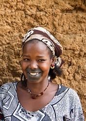 Séduction, tatouage, gencive, bouche, sourire, charme, femme, noire, peul, beauté, tradition, LEUKSENEGAL, Dakar-Sénégal, Afrique