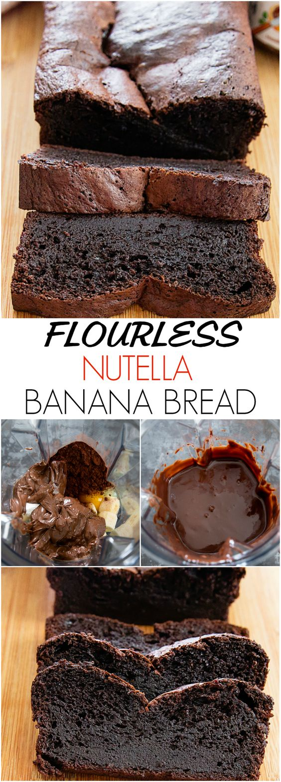 Flourless Nutella Banana Bread #cakerecipe #brownies #dessert
