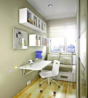 contoh desain kamar minimalis cewek