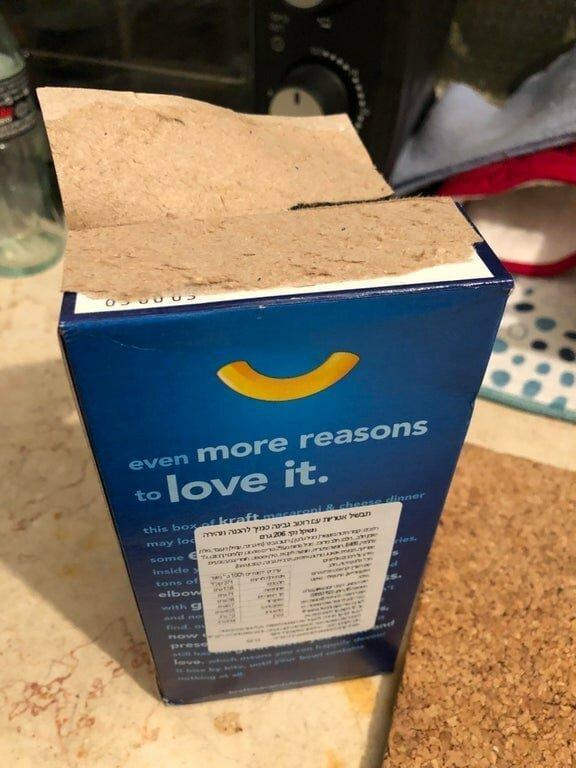 caja mal abierta