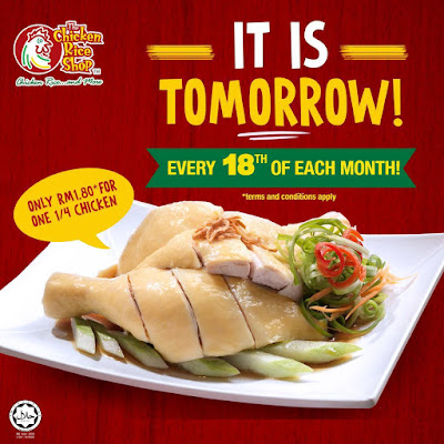 The Chicken Rice Shop RM1.80 Quarter Chicken Monthly Promo