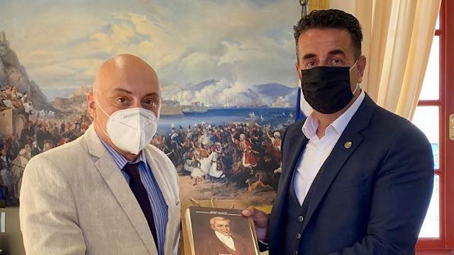 Συνάντηση του Δημάρχου Ναυπλιέων με τον Πρέσβη της Γεωργίας στην Ελλάδα