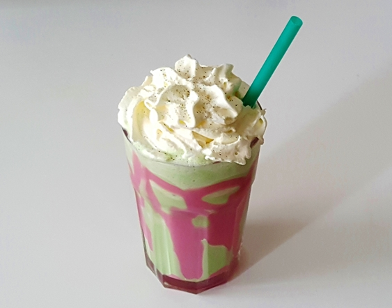 diy, rezept, recipe, dragon frappuccino, matcha, latte, matcha-latte, summer, sommer