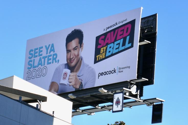 See ya Slater 2020 Saved by Bell billboard
