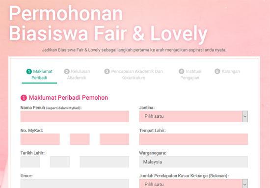 Biasiswa Fair & Lovely RM200,000 Awek IPT