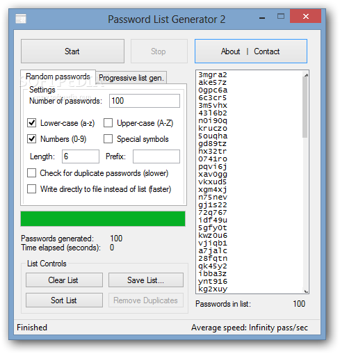 Password list generator