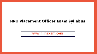 HPU Placement Officer Exam Syllabus