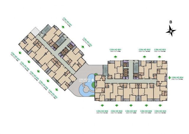 Mặt bằng xây dựng chung cư The Garden Hill